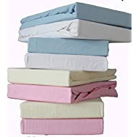 Super Soft Thick Premium Quality 100% Cotton Single Jersey Fitted Sheet.