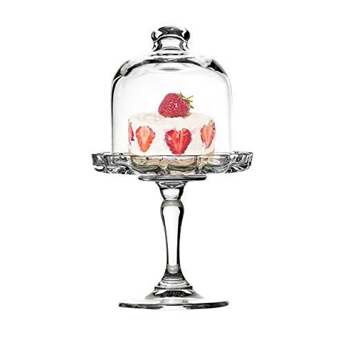 Sweet Home Support en Verre pour Les Desserts et Les Fruits avec Cloche en Verre cod.AC00420LU cm 19,8h diam.11 by Varotto & Co.