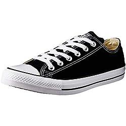 Converse Chuck Taylor All Star Season Ox, Zapatillas de Tela Unisex Adulto, Negro, 37 EU