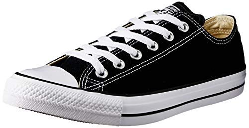 Converse Chuck Taylor All Star, Sneakers Unisex - Adulto, Nero (Black/White M9166), 44 EU