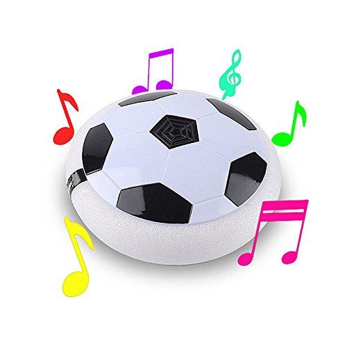 Kinder Air Power Fußball Disc,Air Power Fußball mit LED Beleuchtung,Indoor Outdoor Spielzeug Fußball,Batterie Stromversorgung -