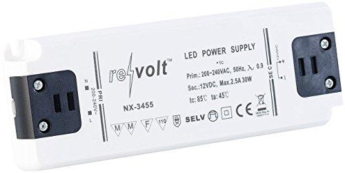 revolt LED Driver: LED-Trafo, 230 V Input, 12 V Output, bis 30 W (LED Transformator) -