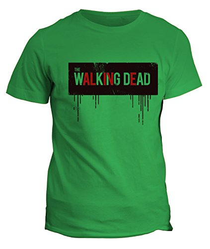 Tshirt The walking dead alive - zombie - in cotone by Fashwork Verde