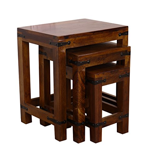 Maharajah Indian Rosewood Small Nest of 3 Tables for sale  Delivered anywhere in UK