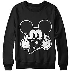 Sweatshirt Mickey Mouse Fuck You C000039 Noir M