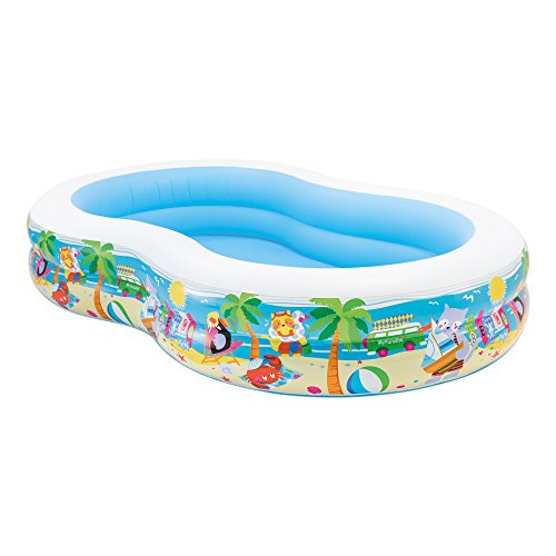 Intex 56490NP Swim Centre Paradise Seaside Pool - white/blue