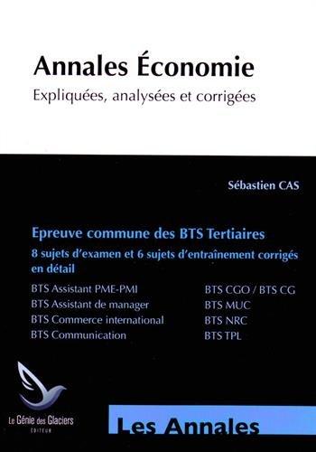 Annales d'Economie BTS Tertiaires