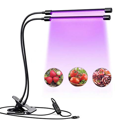 Bbl345dLlo Pflanzenlampe LED Grow Light, Gewächshaus USB 5V Vollspektrum LED Grow Light Flexible Clip Pflanzenwachstumslampe