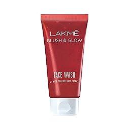 Lakme Blush and Glow Gel Face Wash, Pomegranate, 100g
