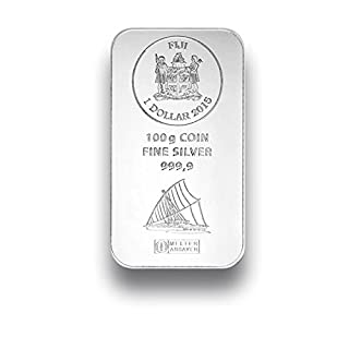 Silberbarren 100g - Fiji Münzbarren - 100g Feinsilber 999.9 - prägefrisch
