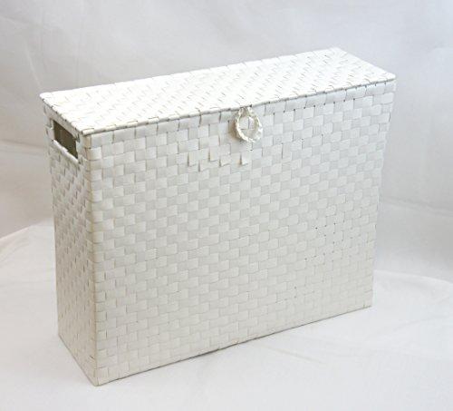 arpan-toilet-roll-holder-bathroom-multipurpose-storage-unit-polypropylene-woven-on-metal-frame-white
