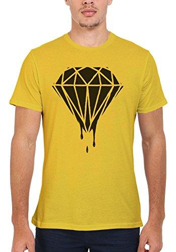 Dripping Diamond Plain Men Women Damen Herren Unisex Top T Shirt Licht Gelb