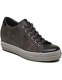 IGI CO Sneaker Donna Pelle Antracite 00bc72fed62