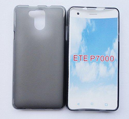 Prevoa ® 丨Transparent Silikon TPU Hülle Case Schutzhülle Tasche für Elephone P7000 4G Android Unlocked Smartphone - (Grau)