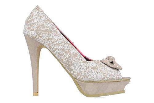 Chaussures escarpin Booze Cruise Platform Iron Fist Blanc