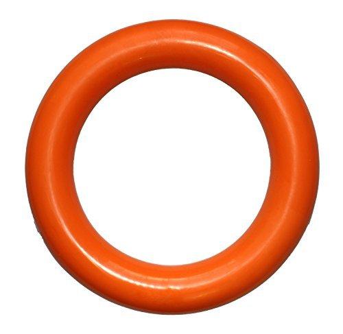 PlayfulSpirit langlebigem natürlichen Kautschuk Ring für Welpen und Erwachsene Hunde, groß, orange