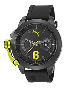 Puma PU103781003 - Reloj de cuarzo unisex, correa de poliuretano color negro de Puma