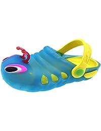 Tyidalin Zuecos para Niños lindo de la luciérnaga Mulas - zapatos suave y transparente zapatillas de playa de verano de los zapatos de los estorbos de jardín para Niños Niñas