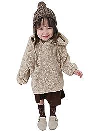 d18d1446d Mitlfuny Invierno Otoño Niñas Niños Bebés Chaqueta de Manga Larga Jersey  Algodón Abrigo con Capucha Pelo