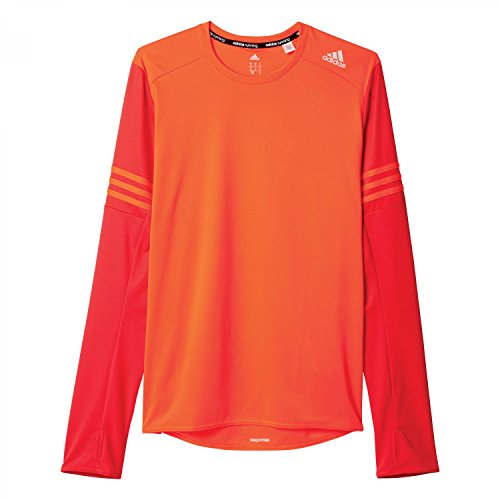 adidas RS LS M - T-Shirt - Herren, Rot solar red/ray red f16