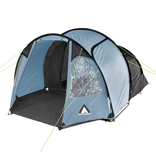 10T Zelt Mandiga Arona 4 Mann Tunnelzelt wasserdichtes Campingzelt 5000mm Familienzelt mit Stehhöhe
