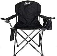 كرسي التخييم المحمول الرباعي من كولمان مع مكان لحفظ الزجاجات الباردة