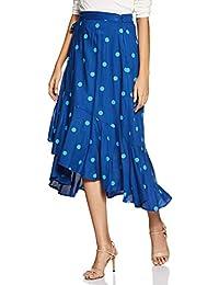 Amazon Brand - Eden & Ivy Rayon wrap Skirt