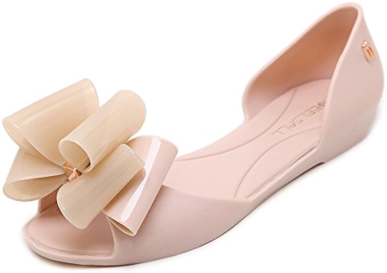 LGK&FA Fondo Plano Sandalias De Mujer Calzado De Playa Boca De Pescado De Jalea Zapatos De Tacón Bajo De Las Sandalias...