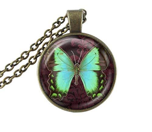 GUHUA Schmetterling Anhänger Halskette Schiere Neckless Charms Kunst Schmetterling Schmuck Vintage Tier Insekt Schmuck Handgemachten Schmuck -