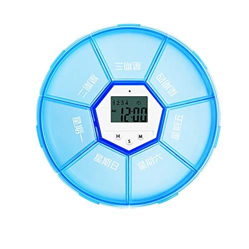 Meisijia Wöchentliche Pill Organizer Digital Timer 7 Gitter Pill Box Wecker Erinnerung Tablet Dispenser Fall (Timer-pille Fällen)