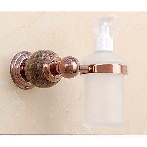 dispenser di sapone di cristallo in ottone dorato/lavello della cucina bottiglia dispenser di sapone a parete/Bagno disinfettante per le mani bottiglia/ciondolo in metallo in stile europeo-F