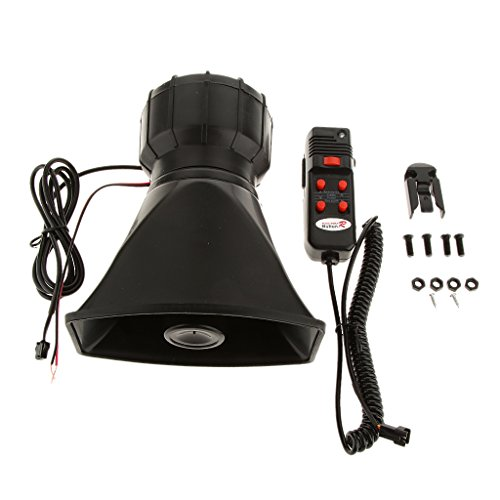 Imported 100W Car Truck Electric Air Horn Siren Speaker 5 Sound Tone Super Loud 300db