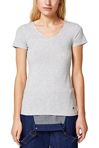 ESPRIT Damen T-Shirt 028EE1K006, Grau (Light Grey 5 044), X-Large Preisvergleich