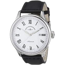 Zeno Watch Basel Herren-Armbanduhr XL Retro Tre Analog Automatik Leder 6273-i2-roem