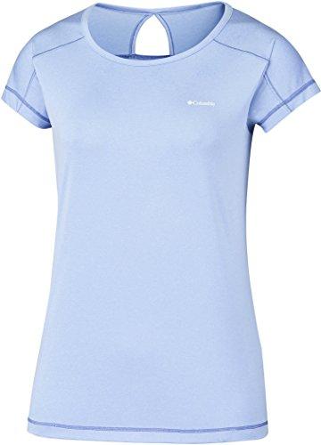 Columbia Kurzärmliges T-Shirt für Damen, Peak to Point Short Sleeve Shirt, Polyester, Hellviolett (Sail), Gr. M, AK1970 (T-shirts Gefährlich Designs)