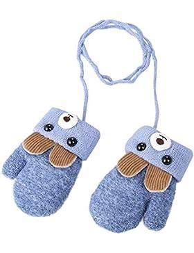 Kinder Winter Handschuhe Fäustlinge Baby Cartoon Fausthandschuh Halshandschuhe Dicke Doppelt Strickhandschuh mit...