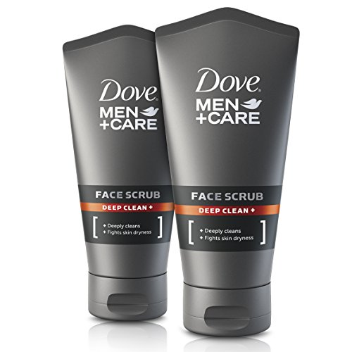 Dove for Men Deep Clean Face Scrub 150ml Pack of 2