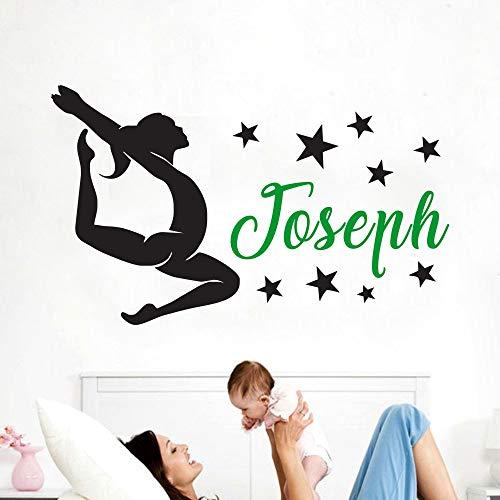 Qsdfcc Kunst Ballerina Tänzer Silhouette Wandaufkleber Dacing Tango Salsa Pause Jungen Und Mädchen Vinyl Wand Poster Home Kreative Decor 11-1 57x95 cm -