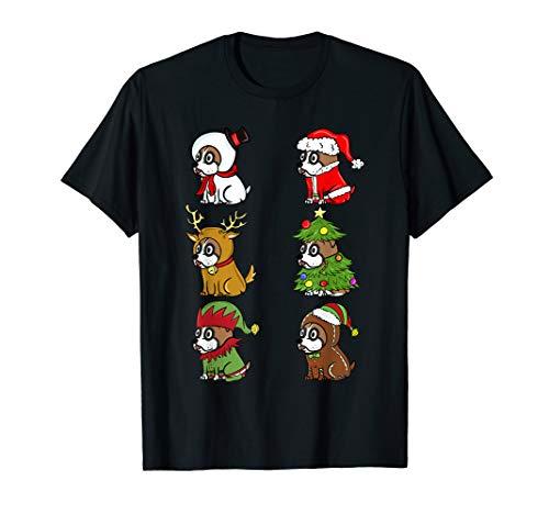Boxer Kostüm Hunde Lustige - Boxer Xmas Kostüme Lustiger Hund Weihnachten Geschenk  T-Shirt