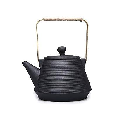 Vbndf Théière Pierre Volcanique Santé Pot Pot Pot Bouillie Thé Bouilloire Kungfu Théière Style Japonais Céramique Poterie Thé Maker