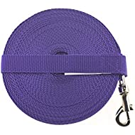 "65ft 20M Dog & Horse Training Lunge Lead. 25mm - 1"" Wide. Very Strong (Purple)"