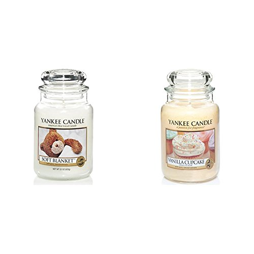 Yankee Candle 1173563E Soft Blanket Grosses Jar + Yankee Candle 1093707E Vanilla Cupcake Grosses Jar