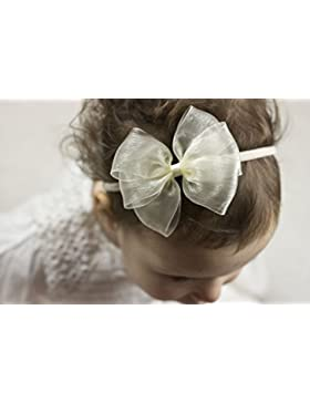 Golden Beam–avorio organza Bow–F