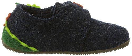 Living Kitzbühel Klettslipper Drach, chaussons d'intérieur mixte enfant Bleu (590 Nachtblau)