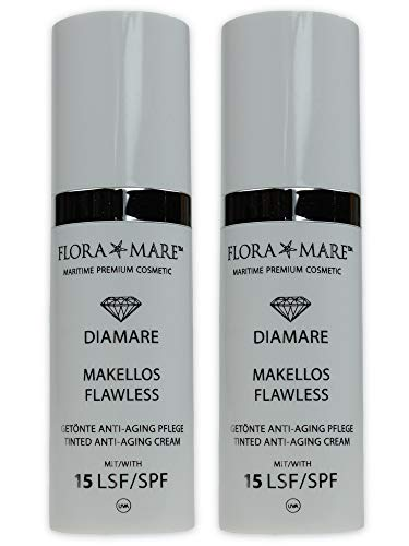 FLORA MARE Diamare MAKELLOS FLAWLESS LSF 15-2x30ml - getönte Tagescreme