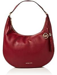 2255d6f9ce Michael Kors Lydia Leather Shoulder Bag - Borse a spalla Donna, Pink  (Muberry)