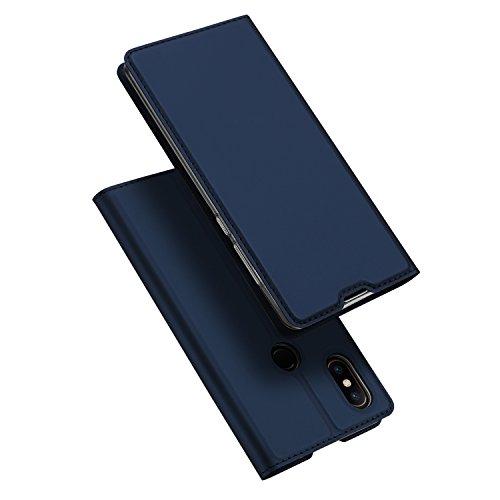 DUX DUCIS Xiaomi Mi 8 Hülle,Flip Folio Handyhülle,Magnet,Standfunktion,1 Kartenfach,Ultra Dünn Schutzhülle für Xiaomi Mi 8 (Blau)