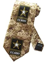 Danggi Man Mens Army Camoflauge Armed Forces Necktie Ð Brown Ð One Size Neck Tie