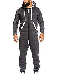 ♚ Chándal para Hombre Unisex, Mono para Mujer Prenda de una Pieza Pijama sin pie Playsuit Blusa con Capucha Absolute