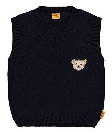 Steiff Baby-Jungen Pullover Pullunder 6712951, Blau (Marine 3032), 80